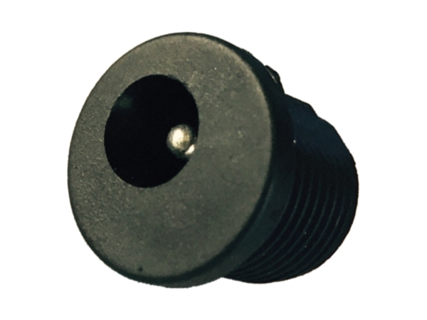 2.5mm DC PANEL MOUNT SOCKET - BLACK