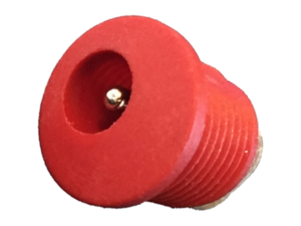 2.1mm DC PANEL MOUNT SOCKET - RED