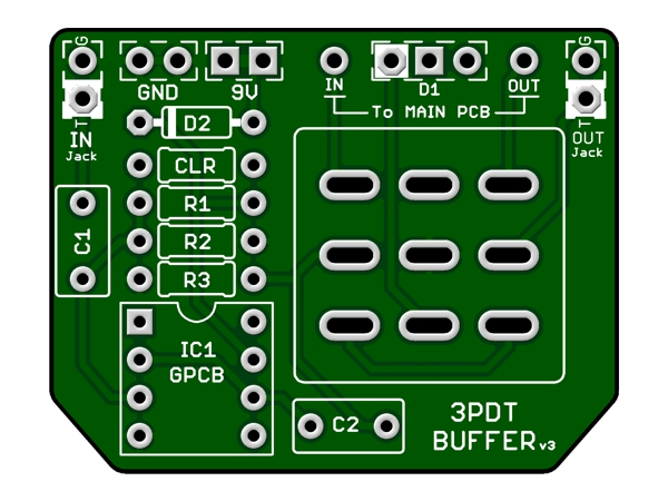 3PDT BUFFER BOARD