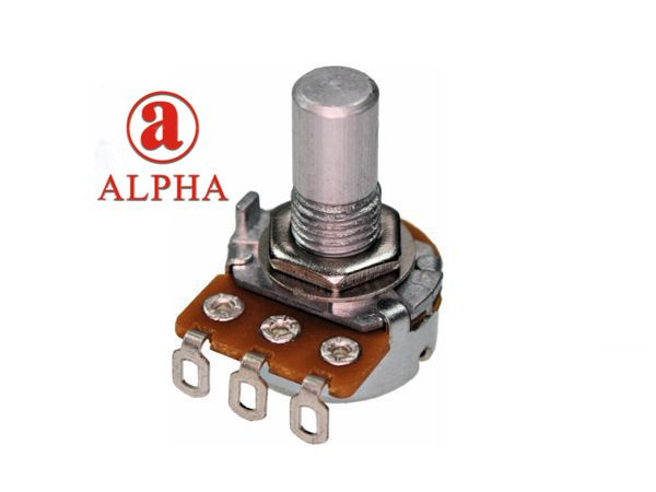 ALPHA 16mm POT SOLDER - 250k REVERSE LOG
