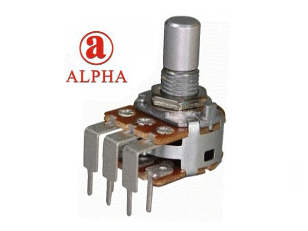ALPHA 16mm POT DUAL GANG PCB - 100k LINEAR