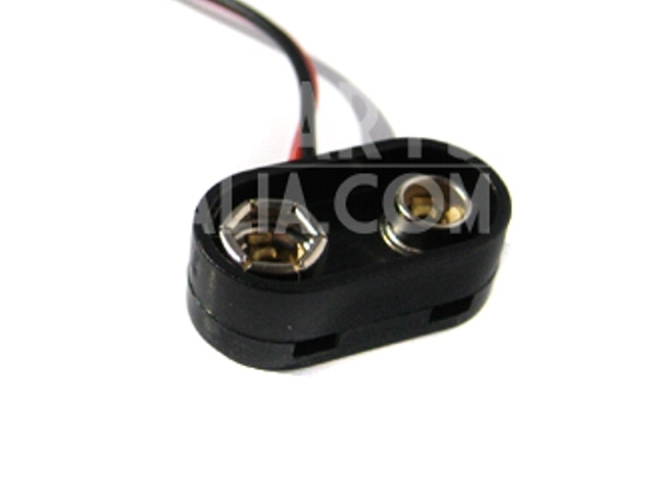 9V BATTERY SNAP - BLACK