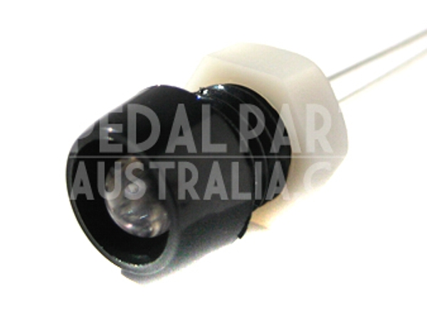 5mm RECESSED PLASTIC LED HOLDER - BLACK