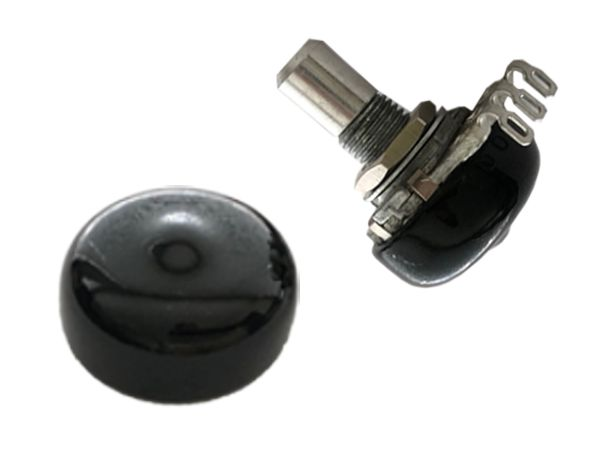 16mm POTENTIOMETER DUST CAP BLACK