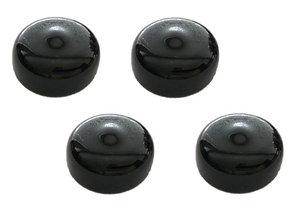 16mm POTENTIOMETER DUST CAP BLACK - 4 PACK