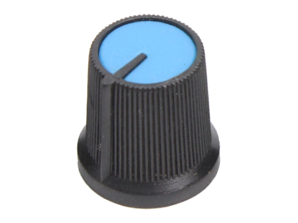 KNURLED PUSH FIT KNOB - BLUE