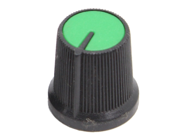KNURLED PUSH FIT KNOB - GREEN