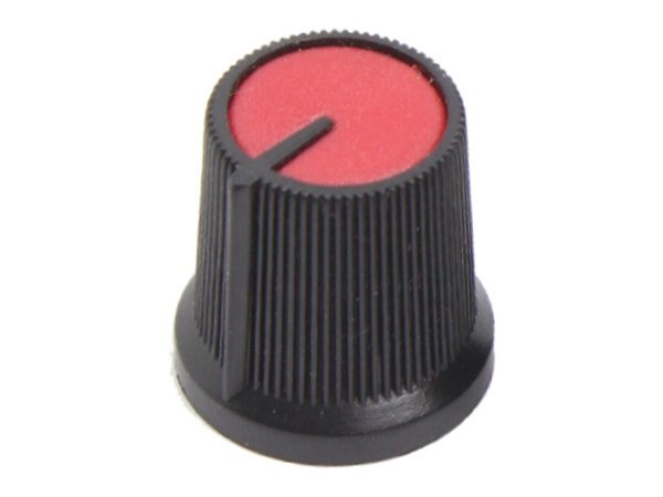 KNURLED PUSH FIT KNOB - RED