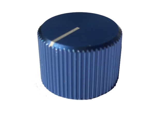 ZINC ALLOY KNOB - BLUE