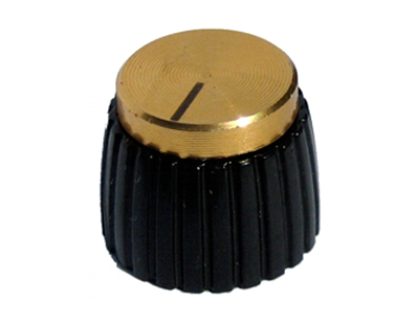 MARSHALL STYLE KNOB - GOLD PUSH FIT