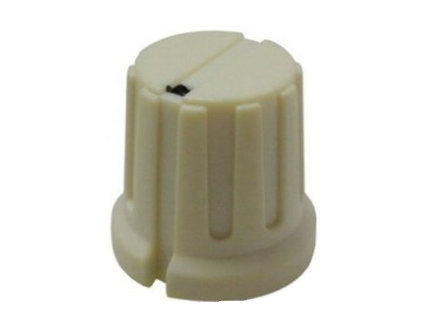 FLUTED KNOB - CREAM