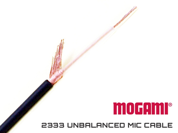 MOGAMI 2333 UNBALANCED MIC CABLE - OD 4MM