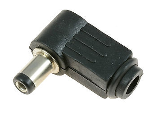 2.1mm DC RIGHT ANGLE CABLE PLUG