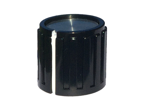 POT KNOB BLACK SMALL - ROUND SHAFT