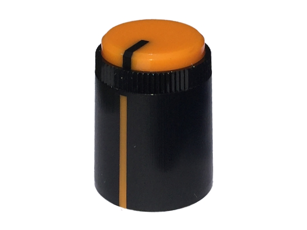 POT KNOB ORANGE - ROUND SHAFT