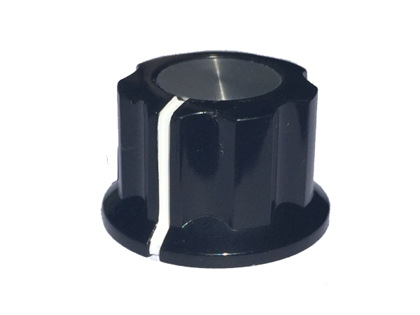 POT KNOB BLACK LARGE - D SHAFT