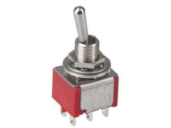DPDT MINIATURE TOGGLE SWITCH (ON-ON-ON)