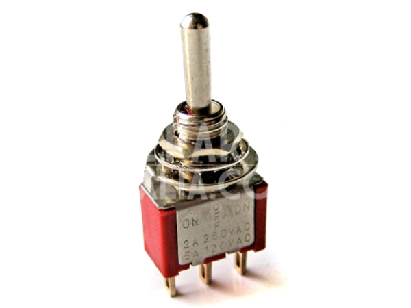 SPDT MINIATURE TOGGLE SWITCH (CENTRE OFF)